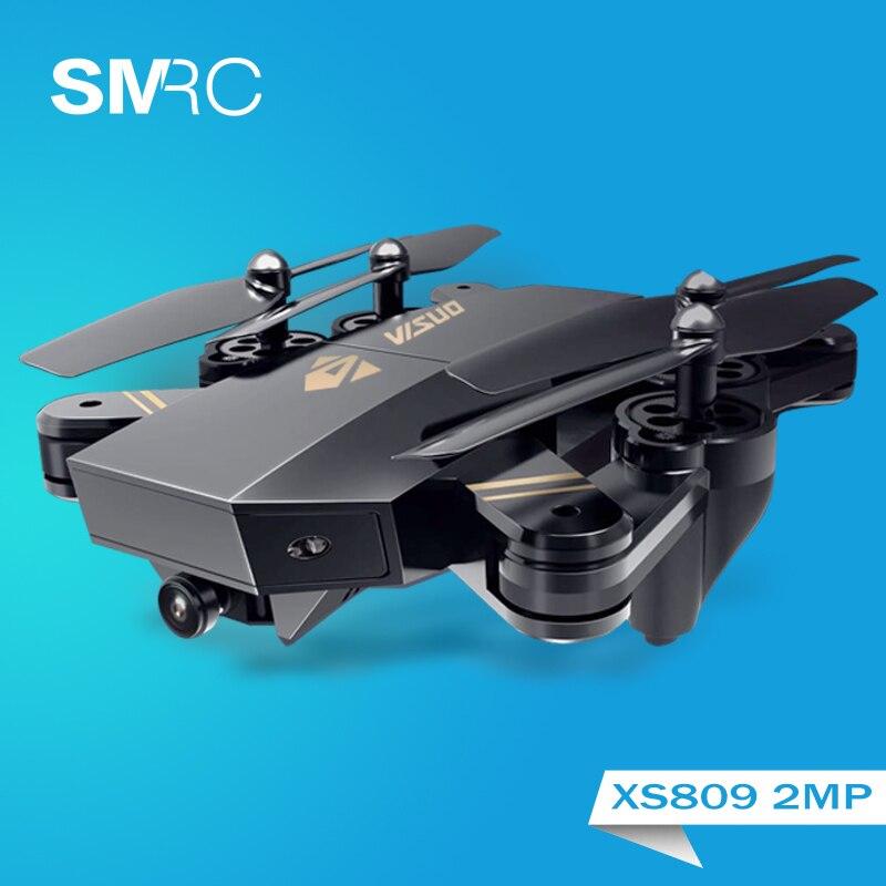 XS809W flotando racing helicóptero rc drones con cámara hd drone profissional fpv quadcopter aviones diversión luminosa juguete para niños