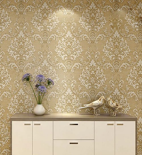 Elegant ... European Gorgeous 3D Stereoscopic Flocking Wallpaper/home Decor Living  Room Wall Paper/green/ ... Part 27