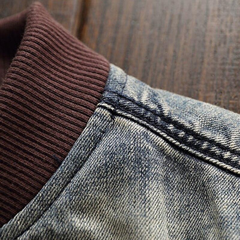 2019 Homens Homem Jaquetas Jeans Patch Designs Estilo Europeu e Americano Slim Fit calças de Brim Dos Homens de Moda Jaqueta Casaco Streetwear A221 - 4