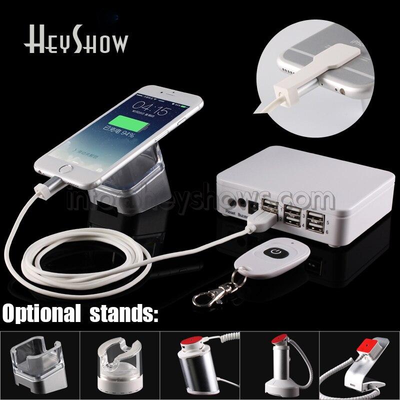 6 Ports support de sécurité pour téléphone portable tablette affichage alarme antivol téléphone portable support antivol pour Xiaomi Apple Huawei Shop