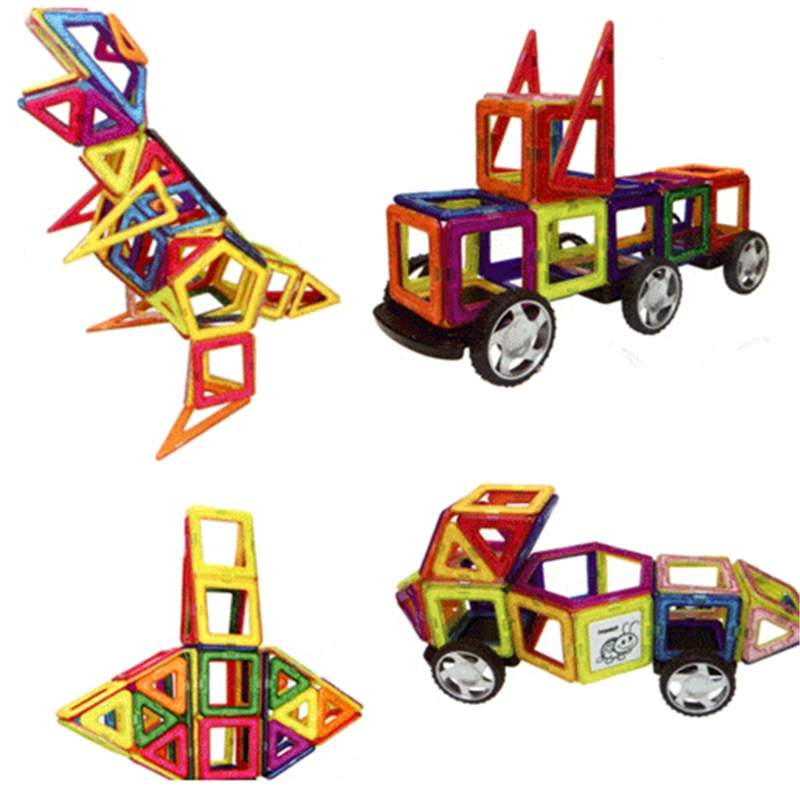 93 հատ հատ Mini DIY մագնիսական շինանյութեր - Կառուցողական խաղեր - Լուսանկար 6