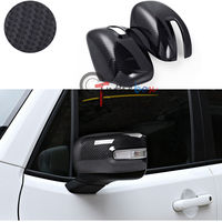 Carbon Fiber Style Side Mirror Rearview Trim Covers For Jeep Renegade 2015 2017