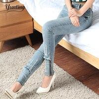 Ssy Pants Plus Size Clothing Female Elastic Jeans Female Skinny Pants Pencil Pants Female Body Shaping