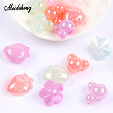 Acrylic Jelly Beads Transparent Candy Color UV Bright Surface Charms For Needlework Handmade Crafts Pendant Jewelry Making