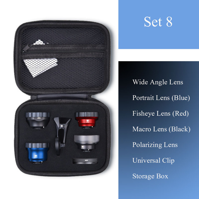ユニバーサル電話レンズ高精細思鋭外部携帯レンズマクロ肖像ミラーセットのための広角魚眼レンズiphone