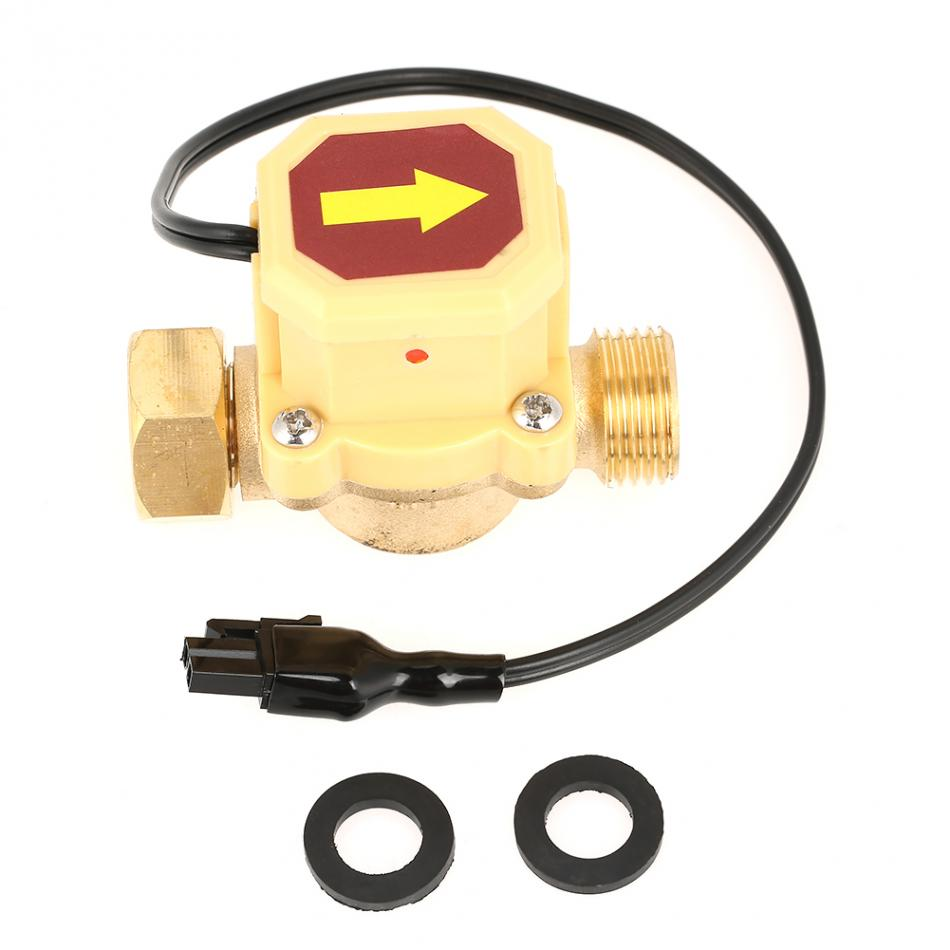 1pc Durable Brass Pump Pressure Water Flow Control Sensor Switch G1/2 Female Male Thread ksol new style 26mm 3 4 pt thread connector 120w pump water flow sensor switch