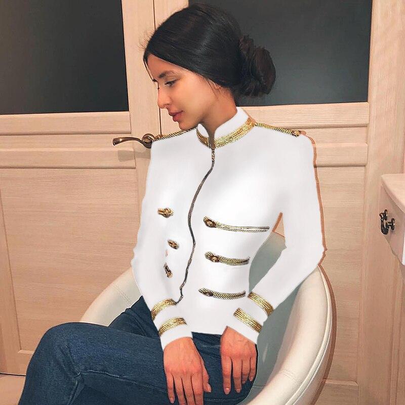 Deer Lady Bandage Coats And Jackets Women 2019 Summer Jacket Long Sleeve White Green Crop Jacket
