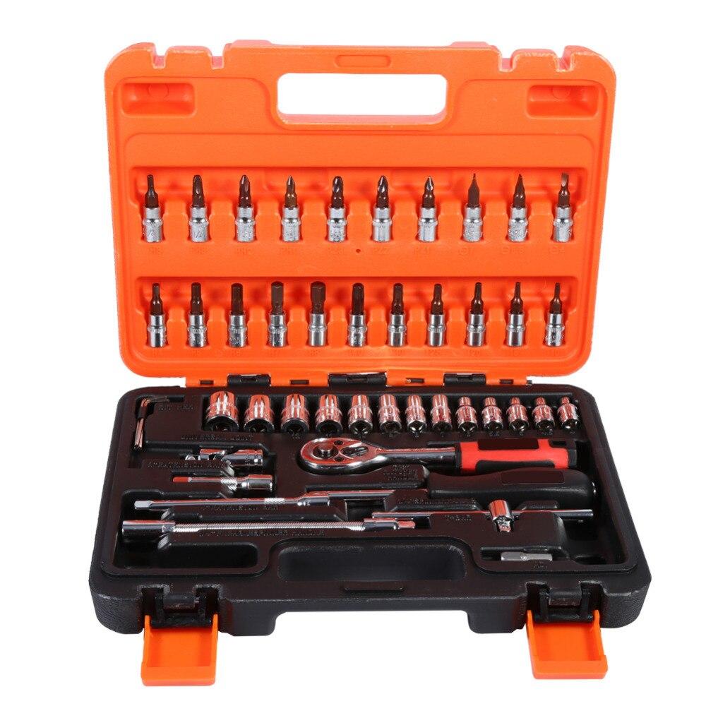 46 шт./компл. шестигранного ключа комплекты Инструменты для ремонта автомобилей, гаечный ключ комбинированные инструменты комплект с коробк...