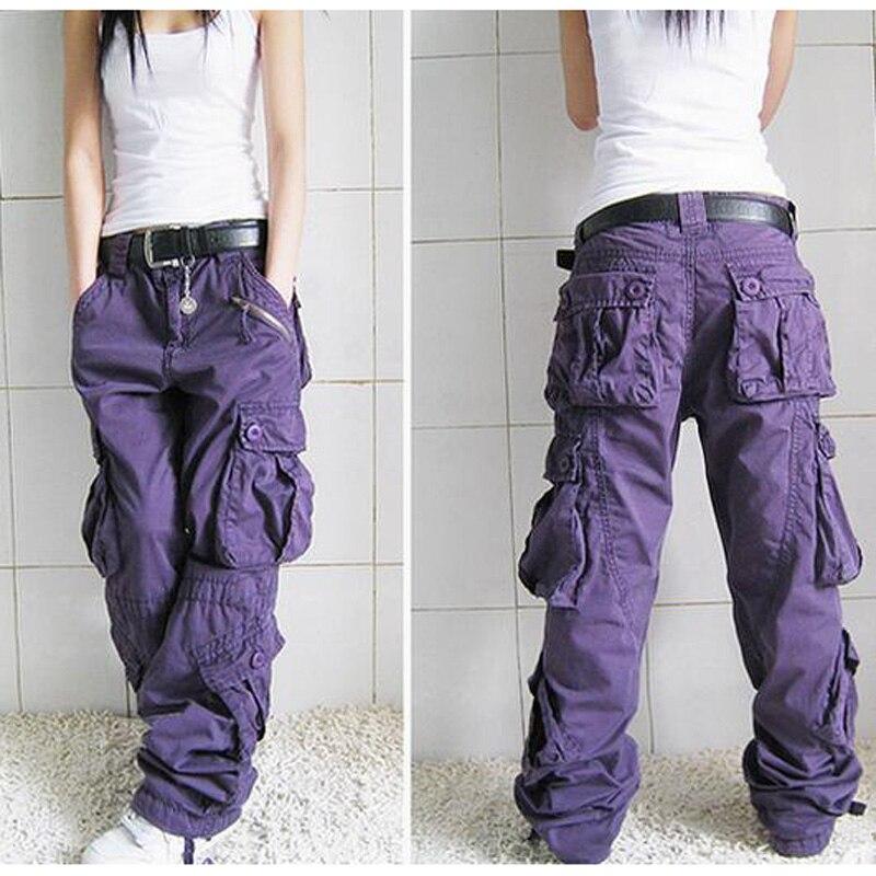 Nouvelle Arrivée Pantalon Cargo Femmes Hip Hop Lâche Jeans Baggy Pantalon Pour Femmes SHIERXI