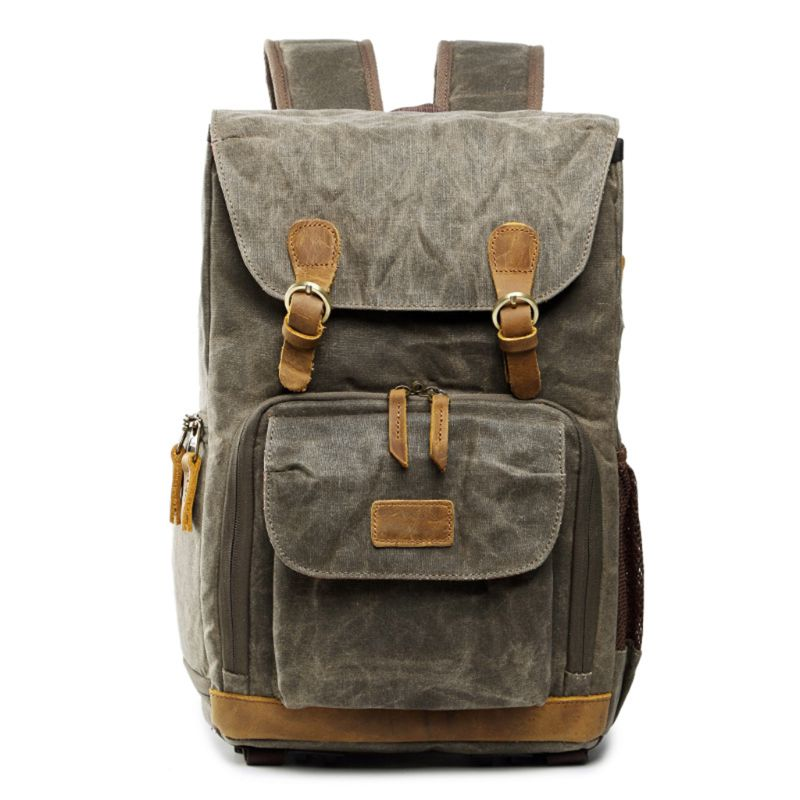 Vintage Backpack Photography Bag Casual Daypack for Camera Lens Laptop and Accessories Travel UseVintage Backpack Photography Bag Casual Daypack for Camera Lens Laptop and Accessories Travel Use