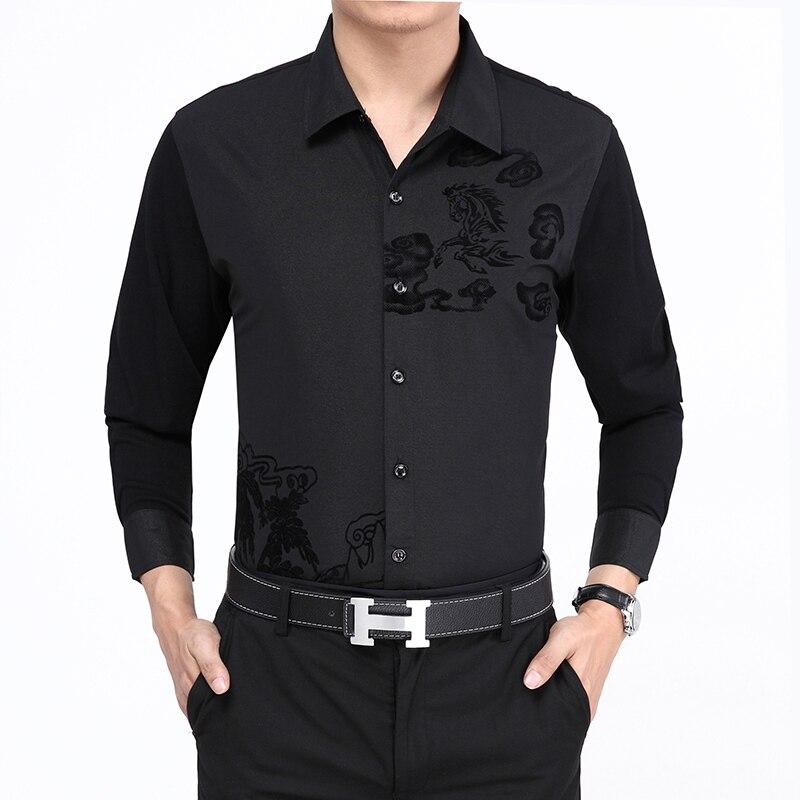 68b50e155 ٩(^‿^)۶الرجال الخريف أزياء طويلة الأكمام قمصان أحدث قمصان نمط تصاميم ...