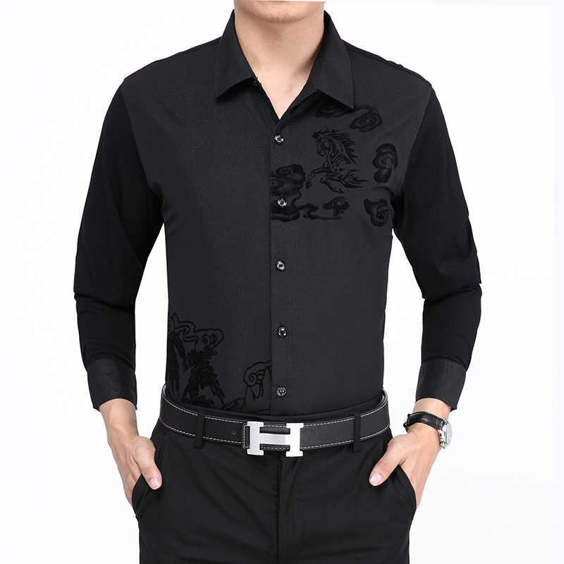 Find and save ideas about Mens designer shirts on Pinterest. | See more ideas about Designer mens shirts, Mens designer shirts sale and Mens designer t shirts. Shirt men new men Slim casual long-sleeved shirt solid color floral fashion hit color shirt large size men. Find this Pin and more on Shirt .