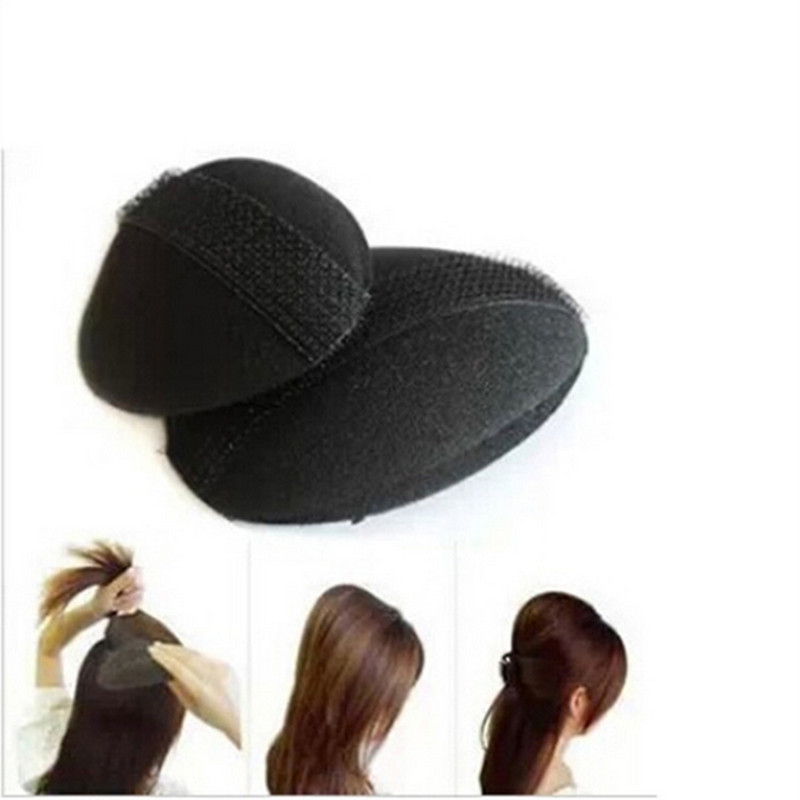 1pc Small + 1pc Big Hair Base Bump Styling Insert Tool Volume Fluffy Princess Styling Increased Hair Sponge Pad Hair Puff Paste