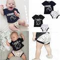 2 pcs Newborn  Infant Baby Boy Girl Clothing Set Baby Clothes Set