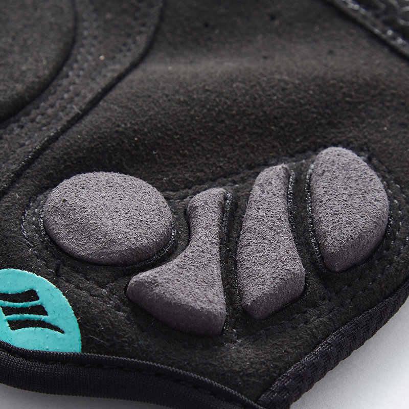 Santic luvas de ciclismo mtb estrada da bicicleta luvas metade do dedo pro gel acolchoado dh preto luvas de bicicleta guantes