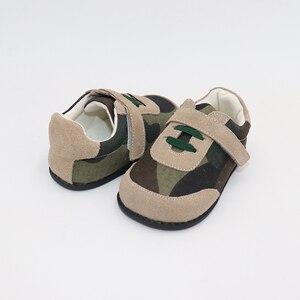 Image 5 - TipsieToes למעלה מותג עור אמיתי באיכות גבוהה תפרים ילדים ילדי נעלי יחף עבור בני 2020 אביב חדש הגעה