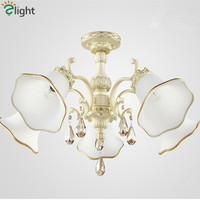 2015 New Europe Country Patoral Simple Romantic Resin K9 Crystal Chandelier Moder Royal Frosted Glass Led