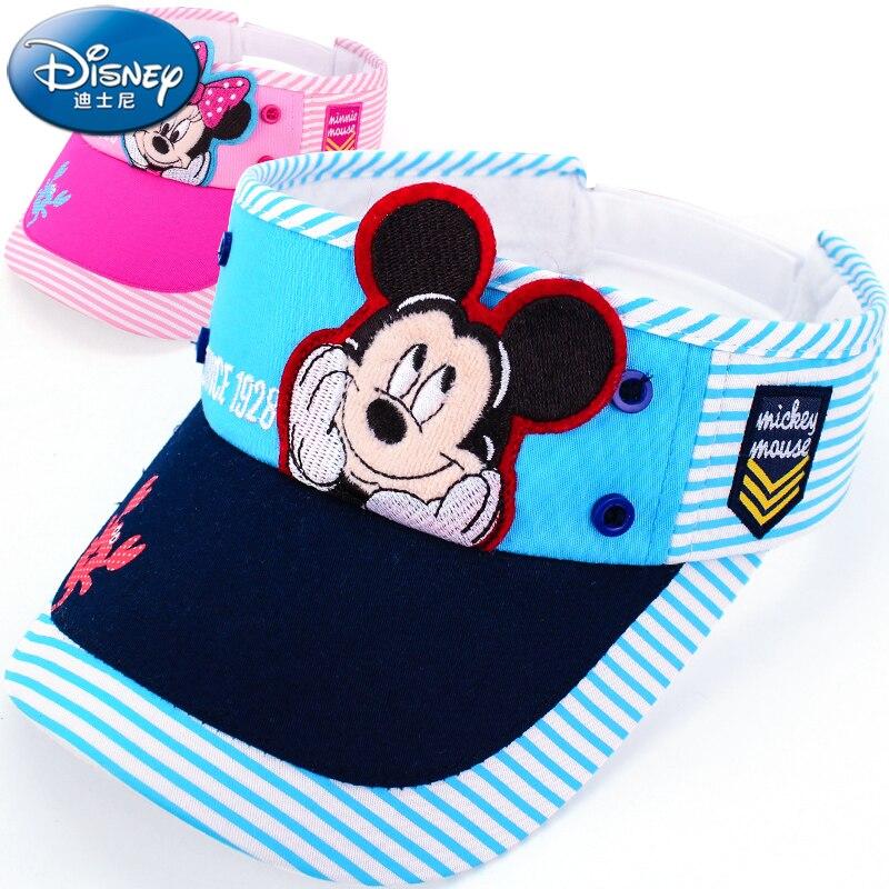 Disney children hat mickey mouse cap fashion cartoon girls princess frozen sunhat outdoor wear Haut vide breathable Visor Shade