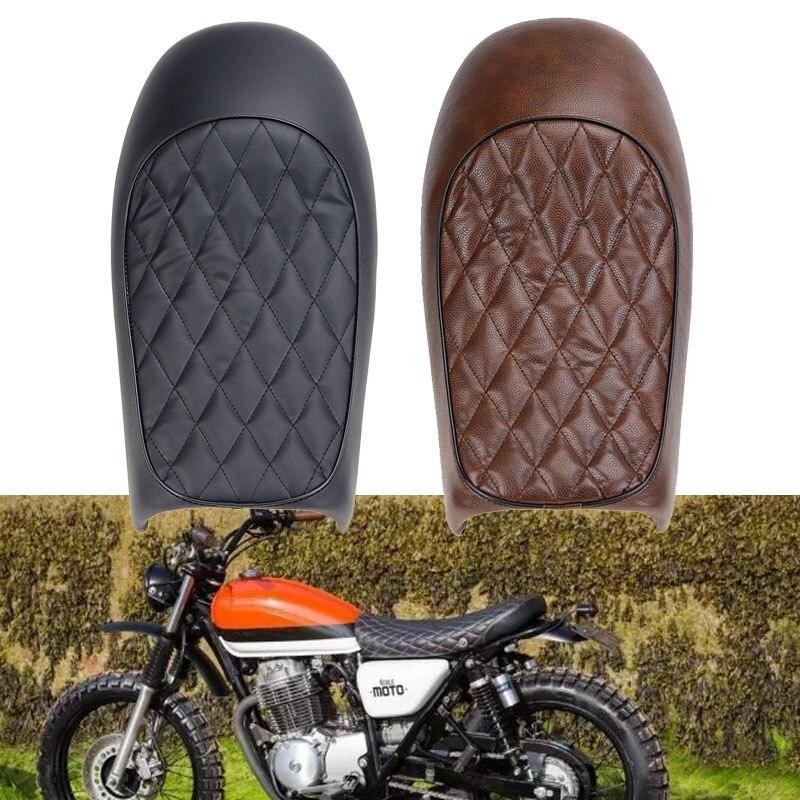 Motorcycle Retro Seat Vintage Hump Seat Cafe Racer Saddle Scramble For Honda CB CL CB350 CB400 CB750 SR125 XJ XS KZ400 W650 запчасти для мотоциклов honda cl400 cb400ss w400 w650 800 page 2