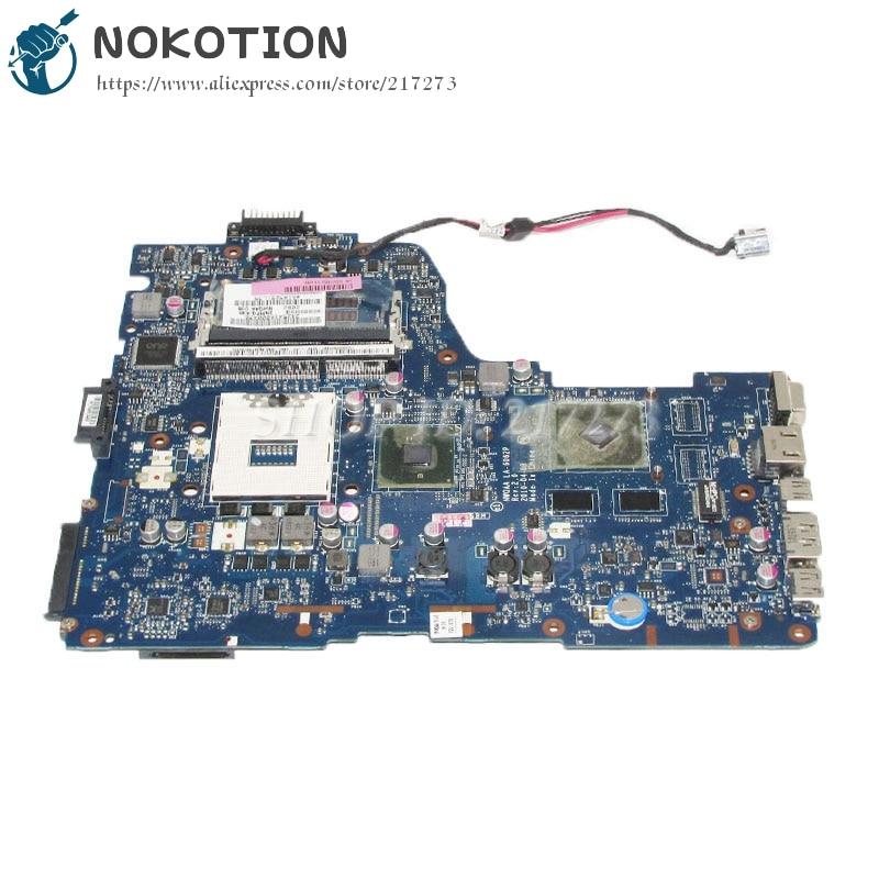 NOKOTION For Toshiba Satellite A660 A665 Laptop Motherboard NWQAA LA-6062P K000109850 HM55 GT310M Video Card DDR3 nokotion a000075380 laptop motherboard for toshiba satellite l655 l650 31bl6mb0000 da0bl6mb6g1 intel hm55 ddr3 free shipping
