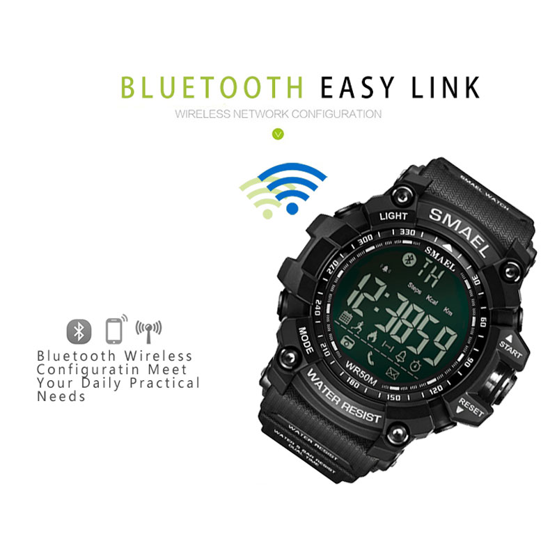 50Meters Swim Dress Sport mens Watches Smael Brand Army Green Style Fashion Big dial Watches Men Digital Sport Male Clock 1617B