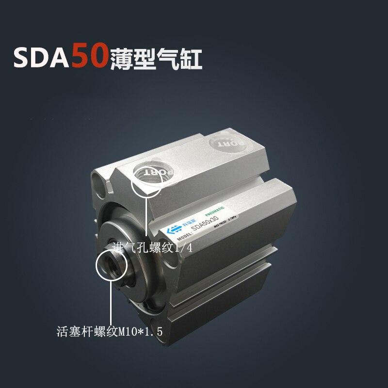 SDA50 *-S Libero di trasporto 50mm Bore 5mm Corsa Compact Air Cilindri SDA50X5-S Dual Action Air Cilindro PneumaticoSDA50 *-S Libero di trasporto 50mm Bore 5mm Corsa Compact Air Cilindri SDA50X5-S Dual Action Air Cilindro Pneumatico