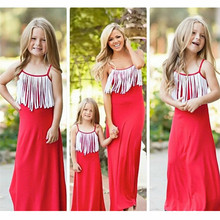 Summer New Family Clothes Ladys Mother Daughter Matching Baby Girl Dress Outfit