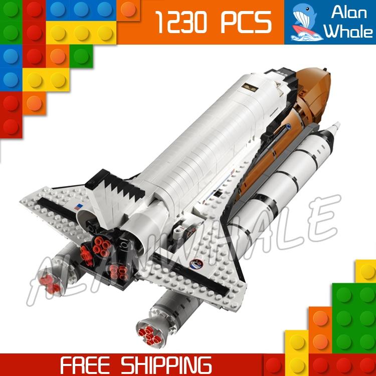 1230 pièces créateur nouvelle navette expédition aventure 16014 Figure blocs de construction assembler des jouets pour enfants compatibles avec LegoING