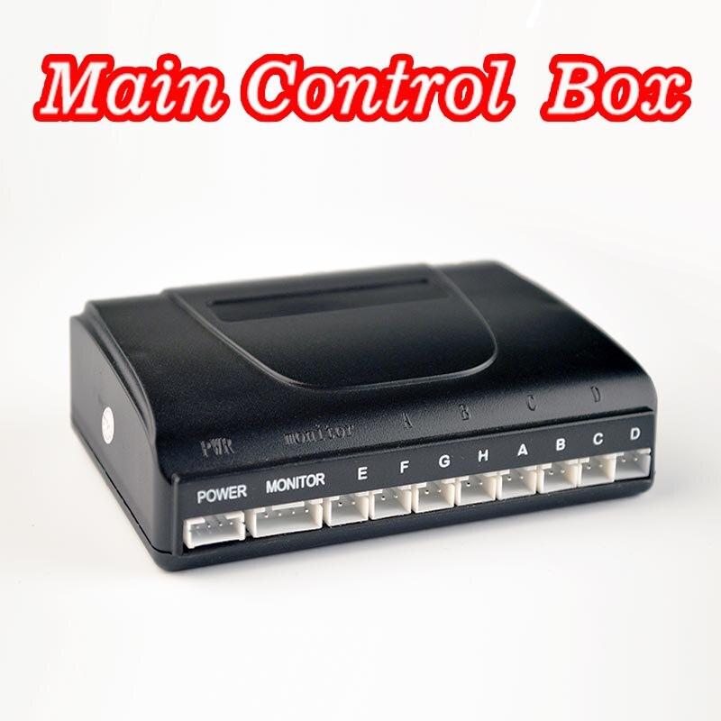 imágenes para La Caja de Control Principal para el Coche LED/Monitor Kit de Sensor de Aparcamiento 8 Sensores Sistema de Monitor de Reversa de reserva de luz de Fondo 12 V