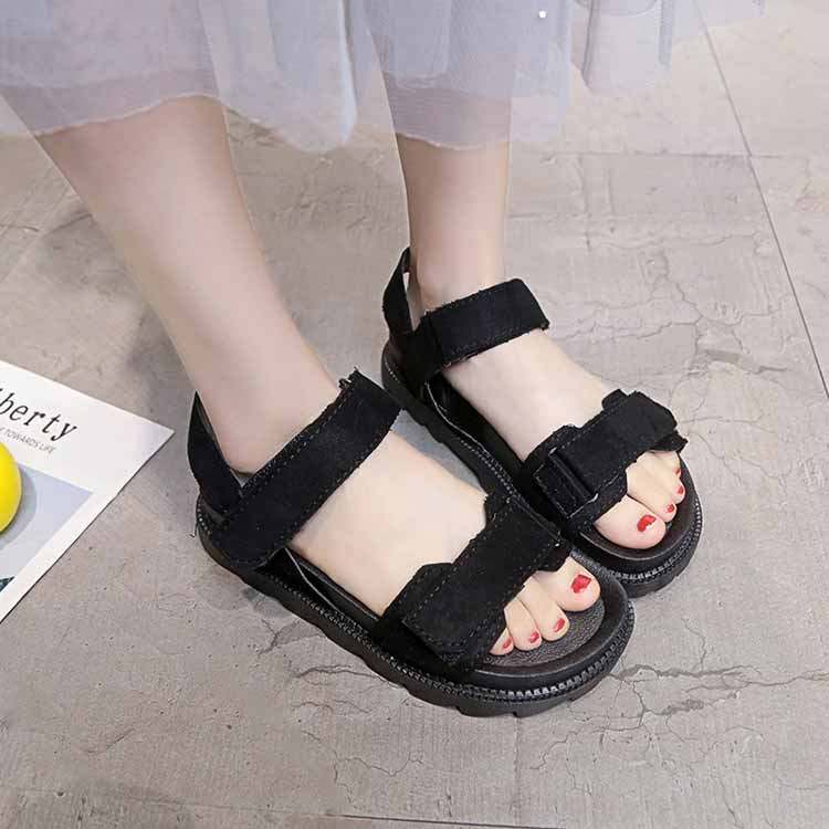 Women shoes adult solid sandals women 2019 fashion med heel height women sandals flat with casual shoes woman sandals female  (9)