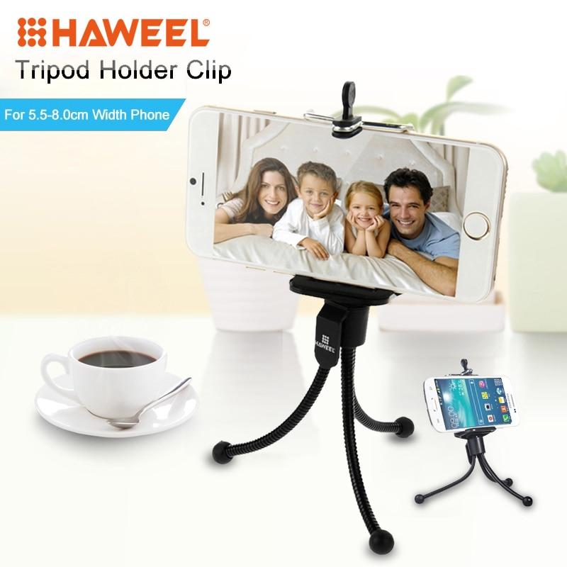 HAWEEL Universal Phone Holder for iPhone 7 6 6S Plus Tripod Stand for - Ανταλλακτικά και αξεσουάρ κινητών τηλεφώνων - Φωτογραφία 1