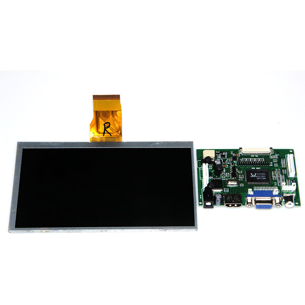 7 inch Raspberry Pi 3 LCD Screen Display 7 inch LCD TFT Monitor with HDMI VGA Input Driver Board skylarpu 7 inch raspberry pi lcd screen tft monitor for at070tn90 with hdmi vga input driver board controller without touch