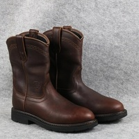 Европа и США кожаные ковбойские сапоги Ретро трубы мужские ботинки Goodyear водонепроницаемый рабочие ботинки Большие размеры
