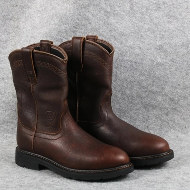 Europe and the United States leather western cowboy boots retro tube men's boots Goodyear waterproof work boots large size коробка для мушек на трубках snowbee waterproof tube large