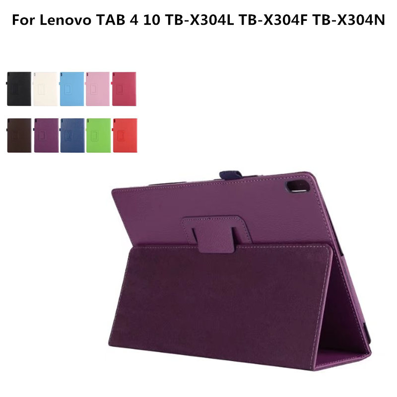 TAB4 10 Protective cover PU Leather Case For Lenovo TAB 4 10 TB-X304L TB-X304F TB-X304N 10.1 inch Folding Stand Tablet Case universal pu leather case for 9 7 inch 10 inch 10 1 inch tablet pc stand cover for ipad 2 3 4 air 2 for samsung lenovo tablets
