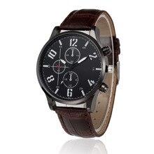 2017 Hot Sale New Fashion  Luxury Retro Design Leather Band Analog Alloy Quartz Wrist Watch