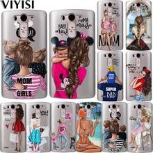 Fashion Black Baby Mom Girl Brown Family Hair Coque Case For LG G6 Q6 G3 G4 G5 G7 XPower 2 V30 Q8 K7 K8 K10 2017 XScreen Etui цены онлайн