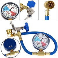 1x Car Air Conditioning AC R134A Refrigerant Recharge Measuring Hose With Gauge