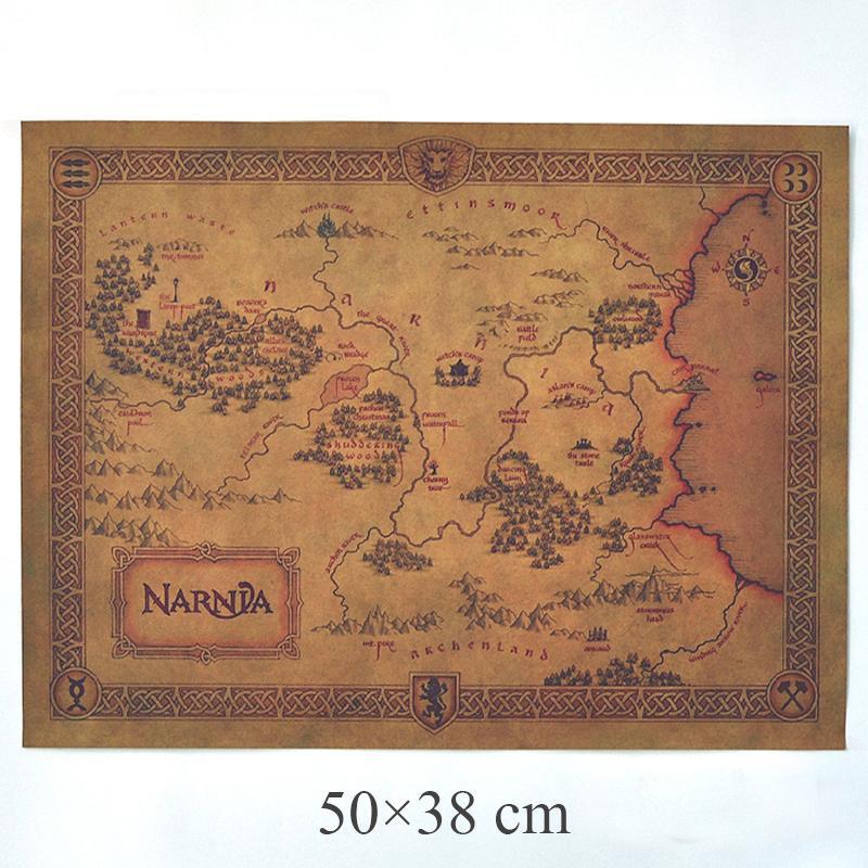Antique Map Vintage Movie Kraft Paper