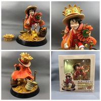 Anime 18CM One Piece KM Monkey D Luffy Fat Resin Figure Model SD GK Collector Statue Model Toys Doll Gift