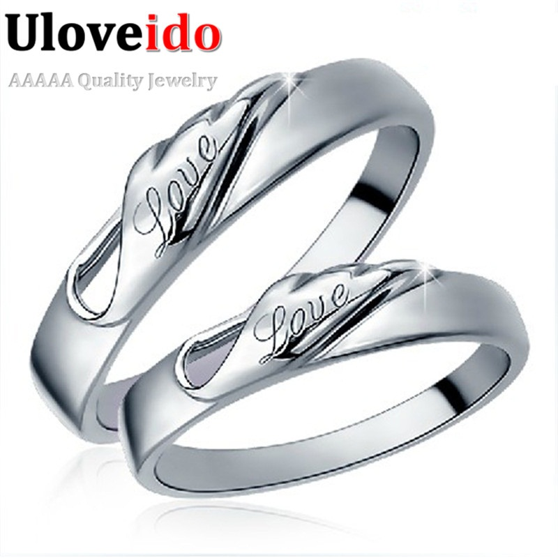 Love Forever Wedding Rings for Men and Women Dubai Fashion Costume
