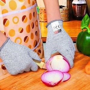 Image 4 - אנטי לחתוך כפפות עבודה בטיחות כפפת מטבח הקצב חום חתך דקירה עמיד אש יד כפפות איש לחתוך הוכחה הגנה עצמית כלים