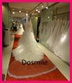Собор Кристалл Blings Sparklings Край Лонг собор фата свадебные Мантилья 3 М Стразы Бесплатный Расческой