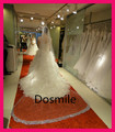 Cathedral Crystal Blings Sparklings Edge  Long cathedral wedding veil Bridal  Mantilla 3 Meters Rhinestones  Free Comb