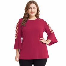 women t-shirt fashion casual top plain shoulder hollow out t-shirts rose clothes t shirt tops flare sleeve black top tees one shoulder plain ribbed t shirt