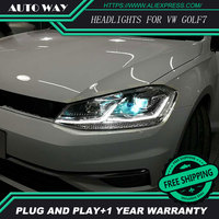 Car Styling Head Lamp For VW Golf7 Headlights Golf 7 MK7 2014 2015 LED Headlight H7
