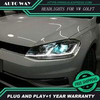 Car Styling Head Lamp For VW Golf7 Headlights Golf 7 MK7 2014 2015 LED Headlight H7