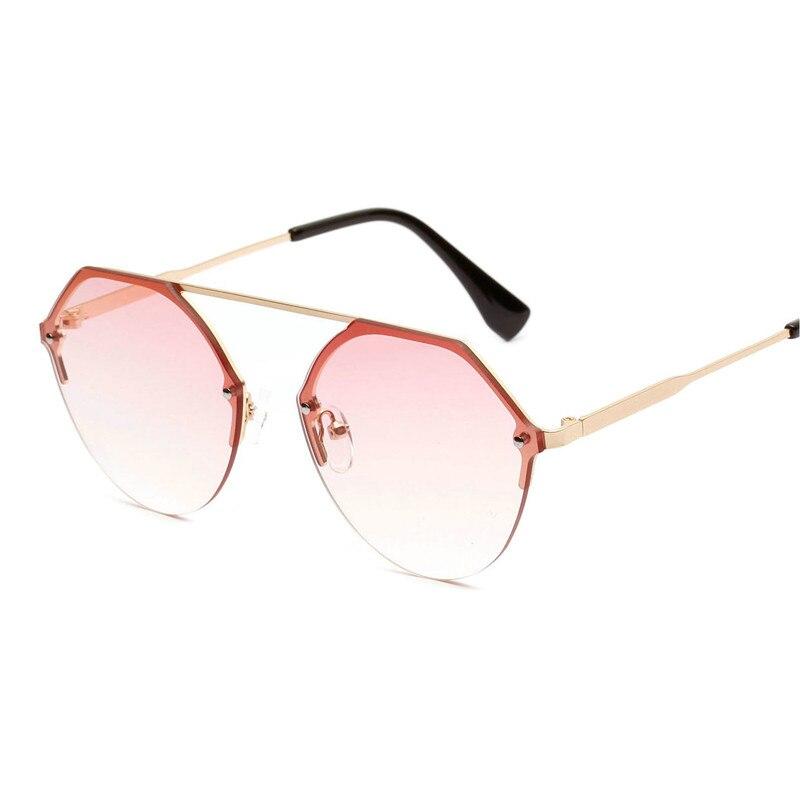 Colore Lenti Fml Rotondi pink Rosa Gafas Sole Da Sol Selvaggio Del Metallo Overszied Lusso Gradiente Vintage Di De gary Donne Occhiali Rosso Modo brown Delle Blue qZTwx1x