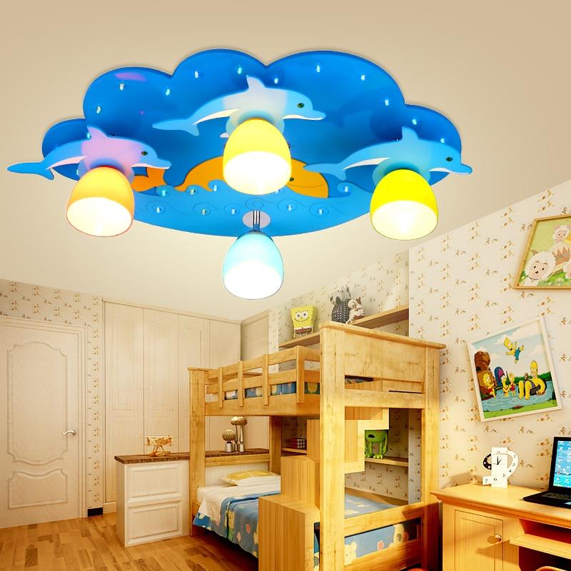 Remote Control Kids Led Lamp Child Blue Ceiling Light