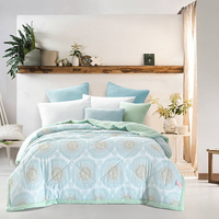 Svetanya Circle Print Thin Throws Blanket Summer Stiching Quilt Twin Queen Size Bedding Plaid